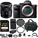 Sony Alpha a7SII Mirrorless Digital Camera with 55mm Lens and 64GB SDXC Accessory Bundle