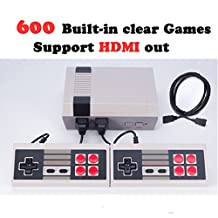 Zehui Popular Video Games, Professional System For NES Game Player -8 Bits Classic Family Game Consoles + Built-in 600 TV Video Game With Dual Controllers