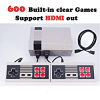 Ocamo Popular Video Games, 8 Bits Classic Family Game Consoles Professional System For NES Game Player + Built-in 600 TV Video Game With Dual Controllers