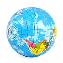 World Map Foam Earth Globe Stress Relief Bouncy Ball Atlas Geography Toy New by Unknown
