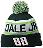 NASCAR Hendrick Motorsports Dale Earnhardt Jr Biggest Fan Redux Pom Knit Beanie, One Size, Green