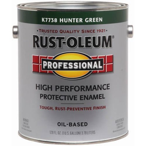 - RUST-OLEUM K7738-402 Professional Gallon Hunter Green Gloss Enamel