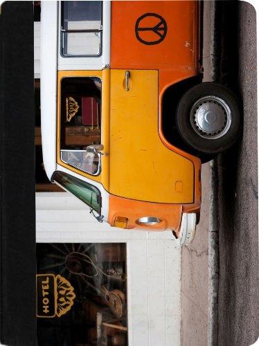 Rikki Knight Vintage Orange Volkswagen Beetle Van Faux Su...