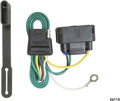amazon com curt 56110 vehicle side custom 4 pin trailer ford f150 trailer wiring 4 pin 2007 ford f150 trailer wire harness