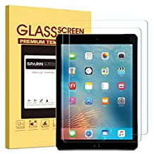 [2 Pack] New iPad 9.7 Inch (2017) / iPad Pro 9.7 / iPad Air 2 / iPad Air Screen Protector, SPARIN Tempered Glass Screen Protector - Compatible with Apple Pencil