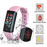 MYPIN Fitness Tracker Watch Smart Band Bracelet Heart Rate Blood Oxygen Pressure Monitor Bluetooth WristBand Activity Trackers Pedometer Waterproof for Kids Women Men Android & iOS Smart phones …