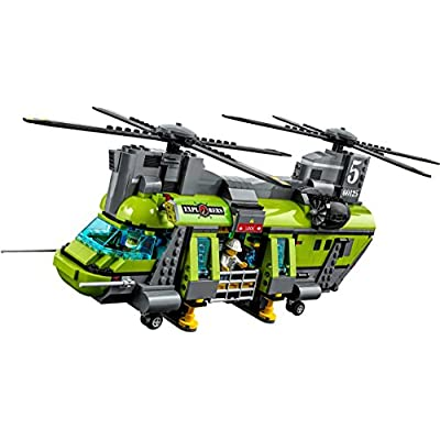 LEGO City Volcano Heavy-lift Helicopter 60125: Toys & Games