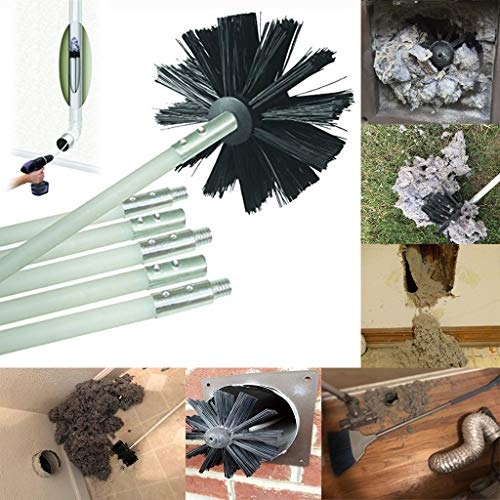 SUJING Flexible Dryer Vent Cleaning Kit Combo, Lint Remover, Extends up to 12 Feet, Synthetic Brush Head