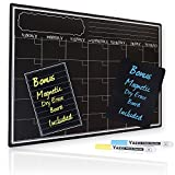 Magnetic Dry Erase Calendar With Chalkboard Design for Kitchen Fridge | ...