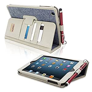 iPad Mini & iPad Mini 2 Case, Snugg™ - Executive Smart Cover With Card Slots & Lifetime Guarantee (Blue Denim) for Apple iPad Mini & iPad Mini 2