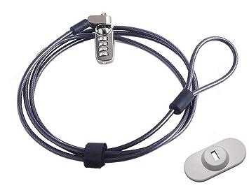 CaLeQi - Cerradura de Cable antirrobo para Ordenador portátil, portátil, Macbook, iPad, iPhone y proyectores (2 m), Color Negro: Amazon.es: Electrónica