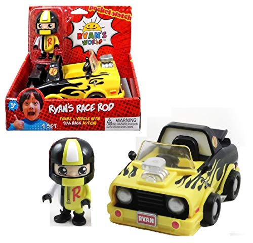 - Ryan's World Ryan's Race Rod - 3-inch Figure & Vehicle with Pull Back Action