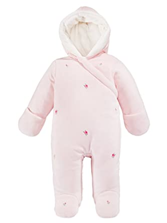 a5d07eb38 Amazon.com  First Impressions Infant Girls Pink Rosette Snowsuit ...