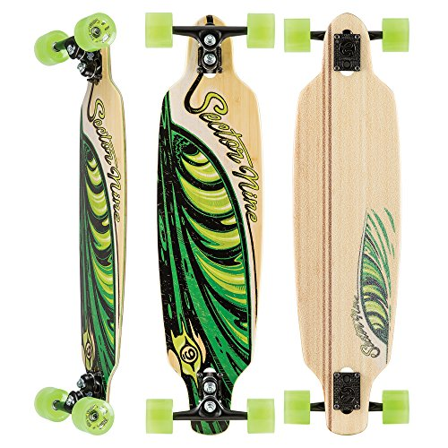 Sector 9 - Lucky Shoots Complete 33 Inch Maple Bamboo Drop Through Longboard for Carving