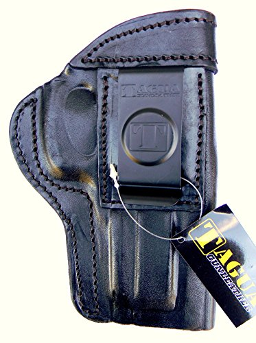 TAGUA BLACK RIGHT HAND SIDE Leather In / Inside the Pants Reinforced Mouth Holster for 5
