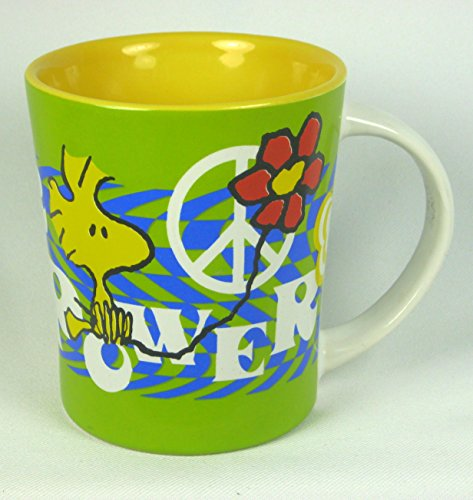 Peanuts Woodstock 15 oz. Coffee Mug ~ Flower Power