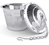 Schefs SCTIFB-1 11 Premium Infuser-Stainless Steel-Single Cup-Perfect Strainer for Loose Leaf Tea, Small,