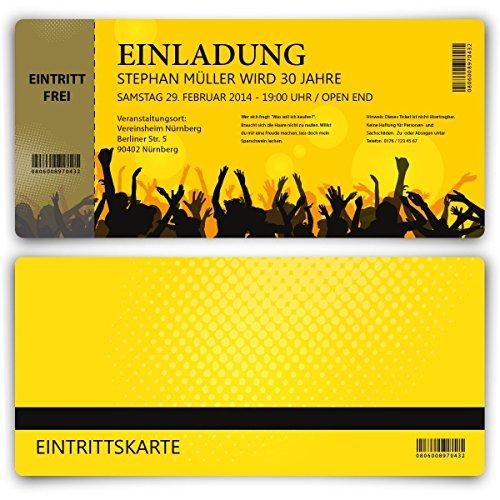 Einladungskarten Zum Geburtstag (50 Stück) Als Eintrittskarte Party Ticket  Karte Einladung: Amazon.de: Bürobedarf U0026 Schreibwaren