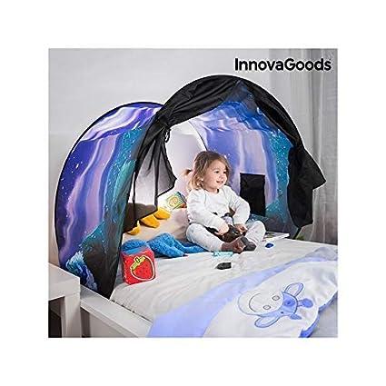 InnovaGoods Tienda Infantil para Camas, Multicolor, 227x1x70 cm