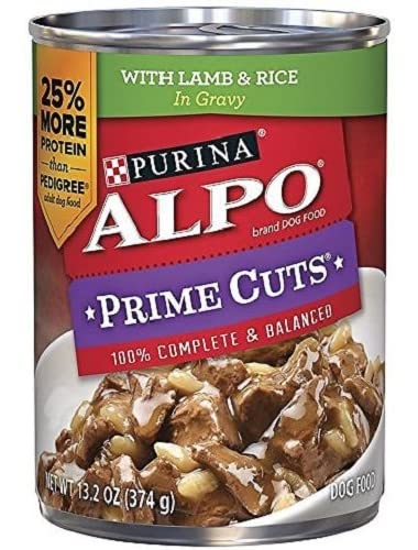 Alpo Prime Cuts in Gravy Canned Dog Food, Lamb & Rice, 13.2 oz