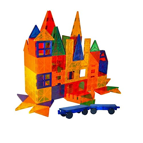 Mag-Genius Award Winning building Tiles Clear Colors 3D Brain Building Blocks...