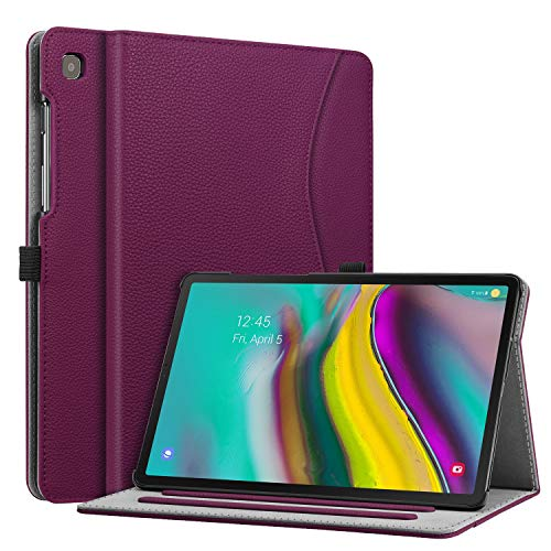 Fintie Case for Samsung Galaxy Tab S5e 10.5 2019 Model SM-T720/T725, Multi-Angle Viewing Stand Cover with Packet Auto Sleep/Wake Feature, Purple