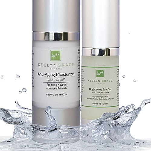 Best Anti Aging Skin Care System- 2 Pack Kit – Spa Moisturizer with Matrixyl Eye Gel Cream with Plant Stem Cell Reduce Wrinkles, Bags, Puffiness Fine Lines Improve Skin Tone Firmness