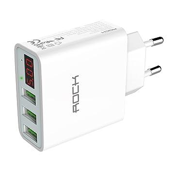 LED 3 puertos USB Casa Pared Cargador Adaptador para Samsung Galaxy HTC Móvil iPhone