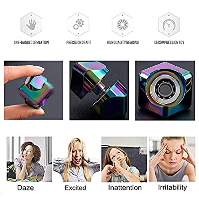 Green Olives Fidget Spinner Anti-Anxiety Helps Focusing Premium Quality CNC Metallic Focus Toy for Kids & Adults - 4-in-1 Spinning Top New Version Handheld Office Desk Toy High-Speed Bearing Rotatin: Toys & Games