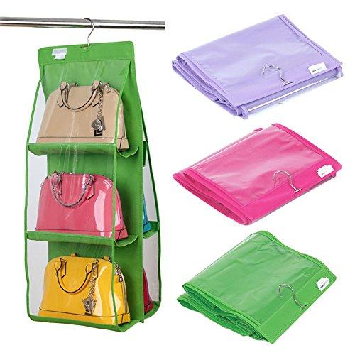 Vktech 174 6 Pocket Large Clear Purse Handbag Hanging Storage