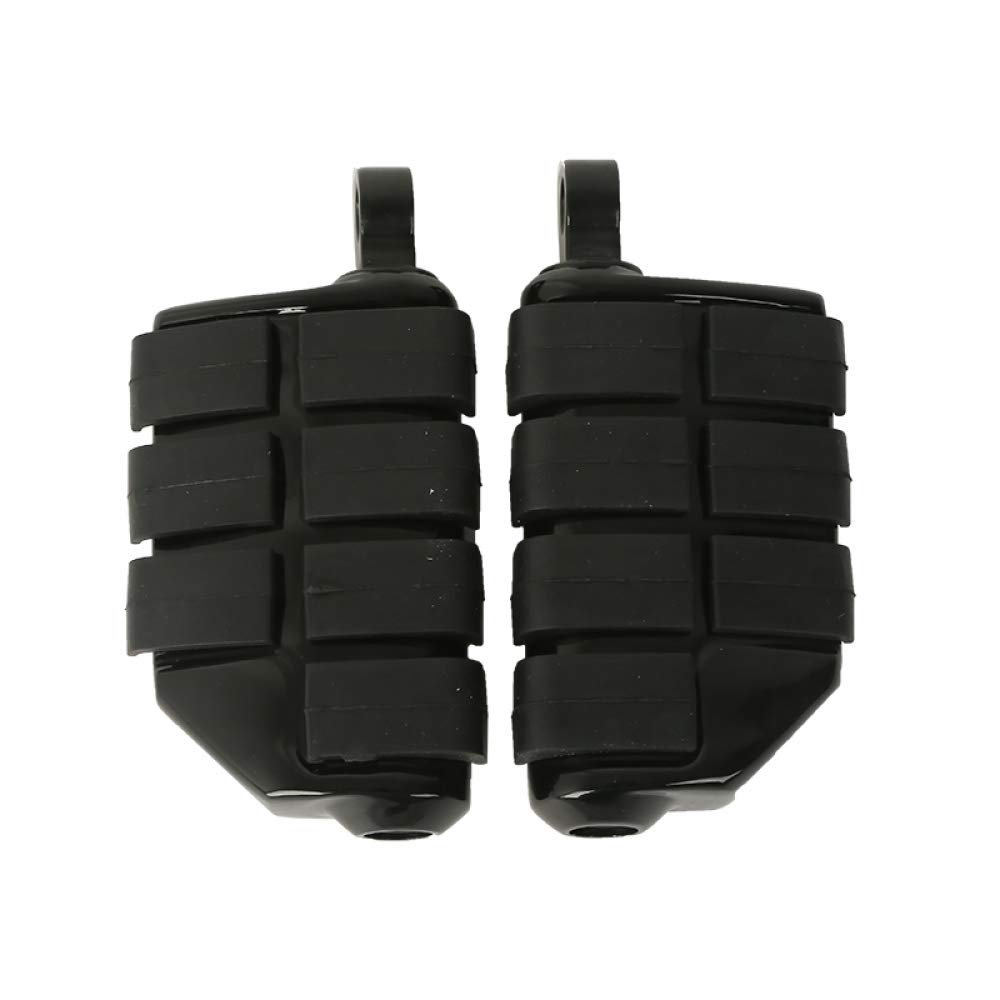 Gloss Black Male Mount Dually Highway Motorcycle Foot Pegs For Harley Davidson Road King Street Glide
