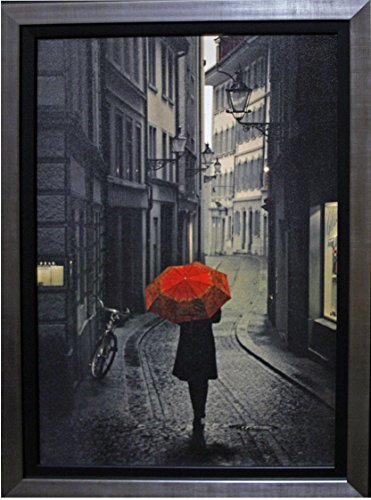 Red Rain Framed By Stefano Corso (Corsa Collection)