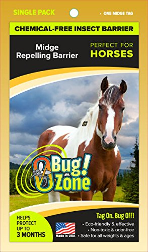 0Bug Zone Horse Midge Barrier Tag, Single Pack