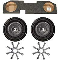 Kicker for Dodge Ram Quad / Crew Cab 02-15 Package - Dual 12 CVT subs in under seat box with Grilles