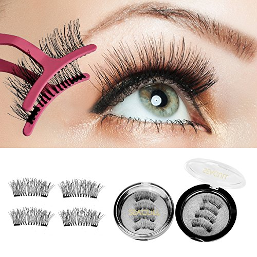 Dual False Eyelashes Magnetic Eyelashes – 3D False Lash Extensions For A Dramatic Effect, Glue-Free Magnet Adhesive, Fake Lashes With A Natural Look, Reusable And Non-Irritating