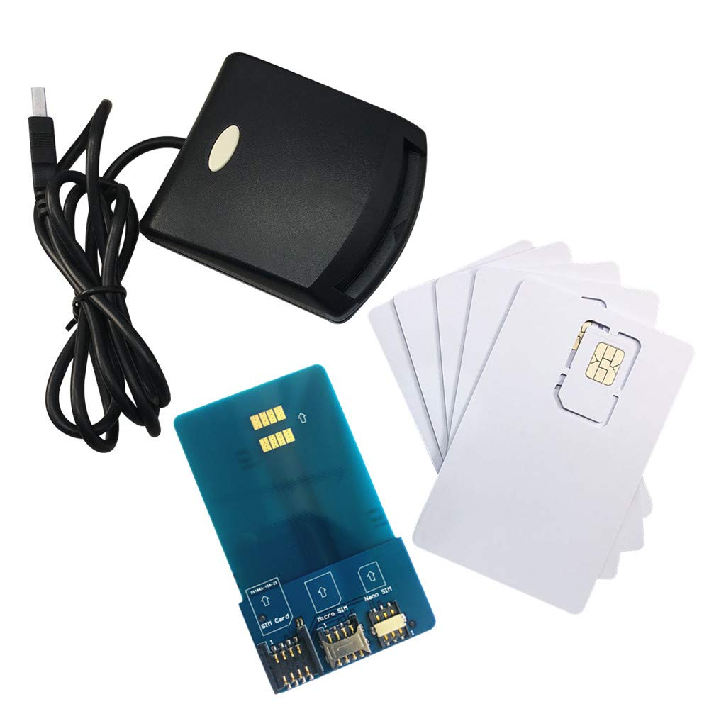 LTE WCDMA ICCID SIM USIM 4G Secure Card Reader Writer Programmer with 5pcs Blank Programable Card + SIM Personalize Tools by XCRFID by XCRFID