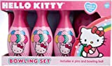 Hello Kitty Bowling Set in Display Box Include 6 Pins and Bowling Ball
