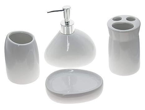 Set accessori bagno da appoggio in ceramica pezzi