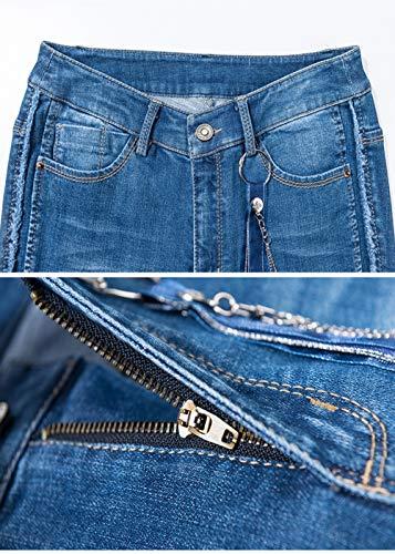 Donna Tromba Sfsf Nove Slim Larghi Larga Jeans Vita A Selvaggio Sottile Moda Micro Vestibilità Da Stagioni Dritto Quattro Pantaloni Taglia Alta wrIYIxqS