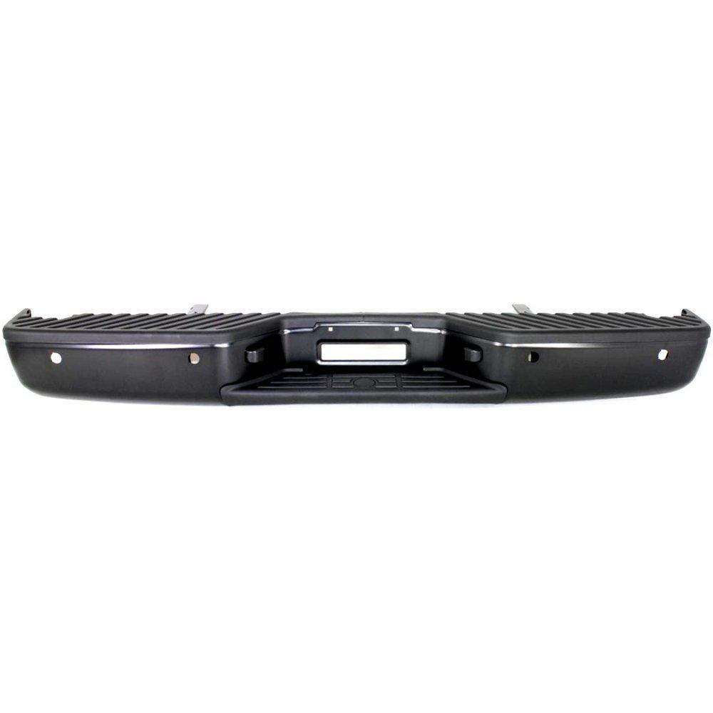 Rear Step Bumper for Nissan Titan 2004-2013 Assembly Powdercoated Black Steel with Distance Sensor Holes Fleetside