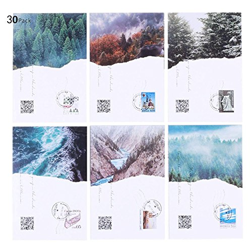 Beautiful Collectors - Rumcent Postcard Set Of 30 pcs, Beautiful Northern Europe scenery, Ideal For Collectors, School Postcard Exchange Projects, Invitations, Gift