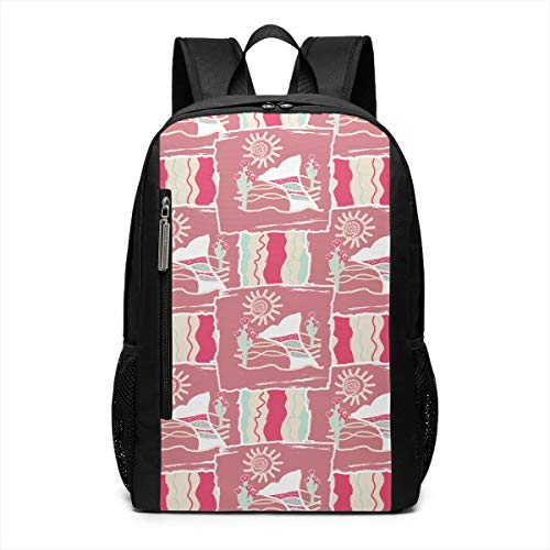 Whaling Boat (I Saw A Whaling Boat. Theme Picture Pattern Printed Bookbag Book Back Middle School Bag Backpack Travel Hiking Mini Gym Gear Girls Boy Teen Women Kid Men Gift)