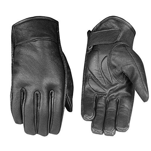 Men's Premium Leather Motorcycle Cruiser Touring Biker Gel Gloves XL