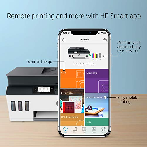 HP Smart -Tank Plus 651 Wireless All-in-One Ink -Tank Printer | up to 2 Years of Ink in Bottles | Auto Document Feeder | Mobile Print, Scan, Copy (7XV38A)