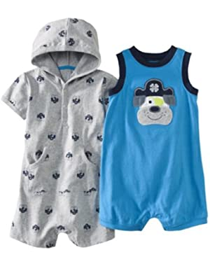Just One You Made By Carter's Baby-Boys Infant 2pc Rompers Newborn