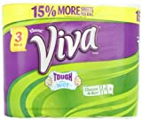 Viva Paper Towels, White, Big Roll, Choose-A-Size, White (3 Rolls)