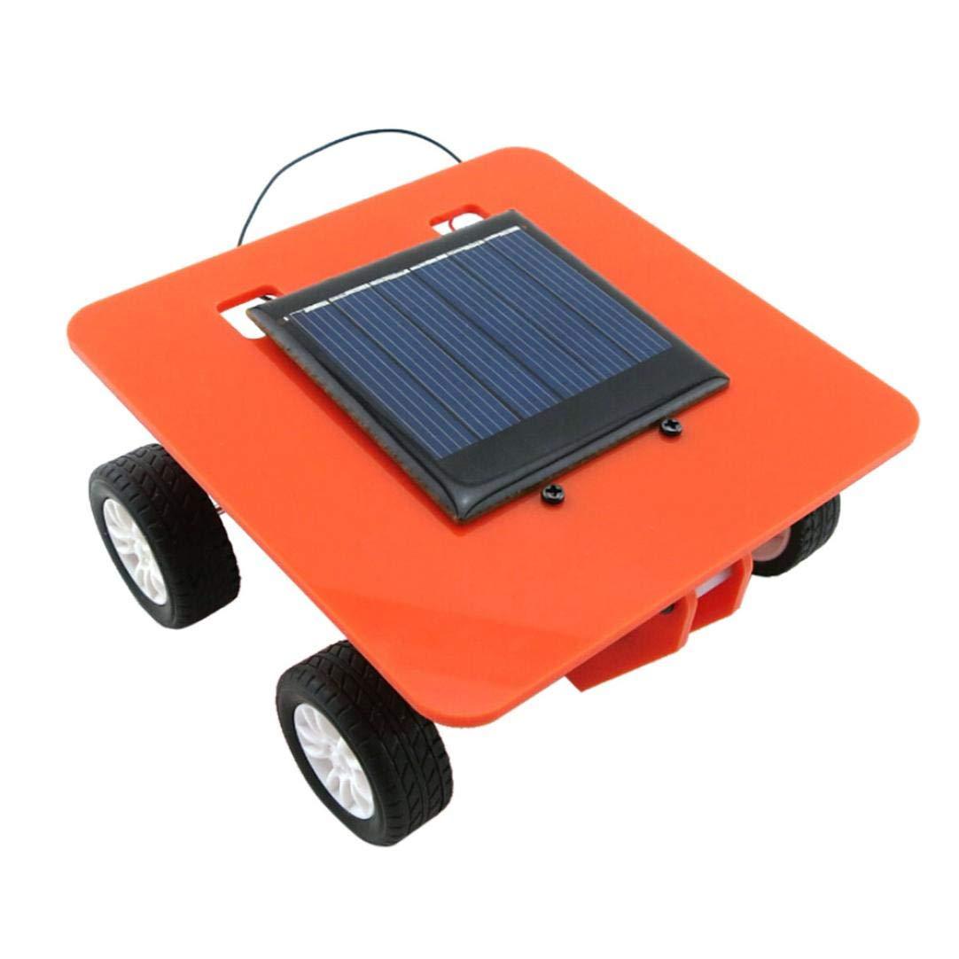 Cinhent Toys ミニ太陽電池式高品質パズルおもちゃ DIYカーキット 子供の教育ガジェットホビー 面白いノベルティゲーム 赤ちゃんのお子さまに人気 10 x 10 x 4.5cm 10 x 10 x 4.5CM マルチカラー Cinhent -5630041251240  オレンジ B07GJD6HHW