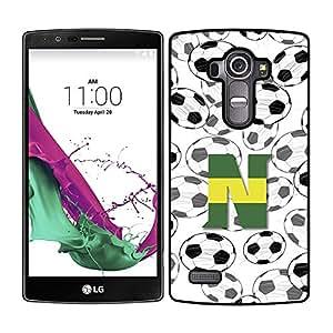 Funda carcasa para LG G4 diseño fútbol N borde negro