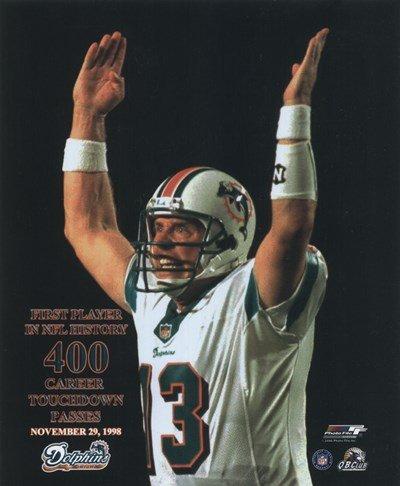 ad56686b1 Amazon.com  Dan Marino - (400 TD) - 8x10 Inches - Art Print Poster ...
