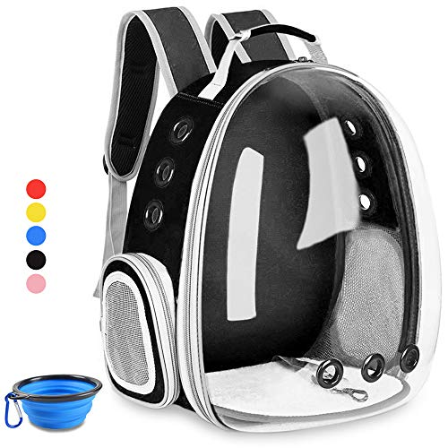 Aukor Cat Backpack Carriers Capsule Bubble Backpack Transparent Pet Cat Carrier Ventilated Airline Approved Travel Pet Backpacks for Cats Dogs -